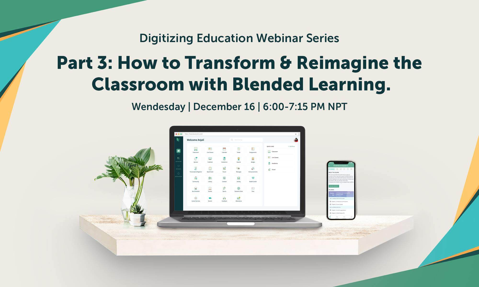 Graphic with details of webinar